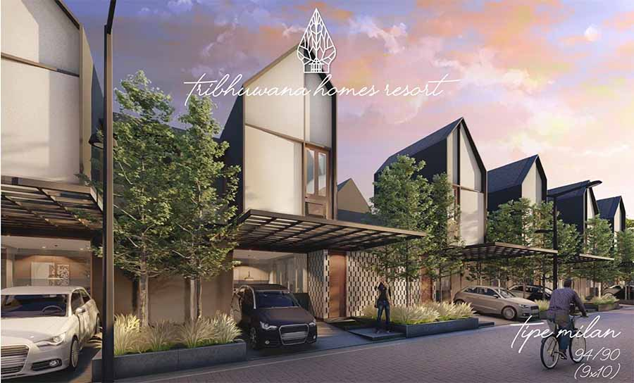 Rumah tipe Milan Tribhuwana Homes Resort Cisauk