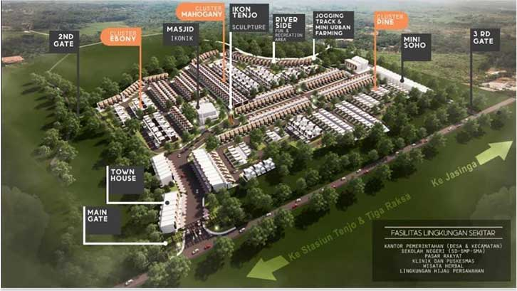 Masterplan perumahan Ikon Tenjo Resort Homes