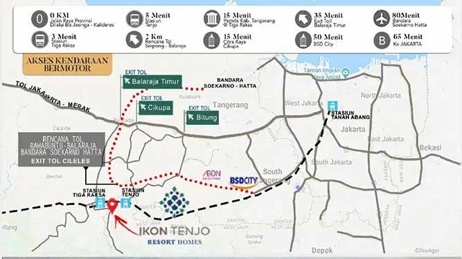 Peta lokasi perumahan Ikon Tenjo Resort Homes