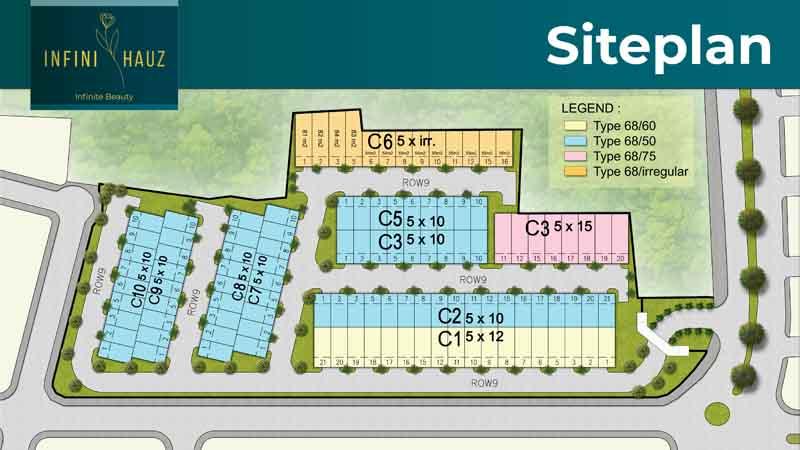 Siteplan Cluster Baru Banjar Wijaya Tangerang