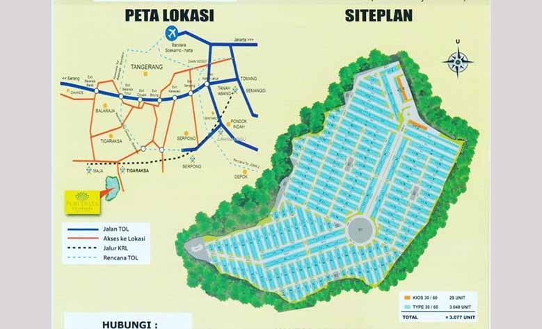 Siteplan Perumahan Puri Delta
