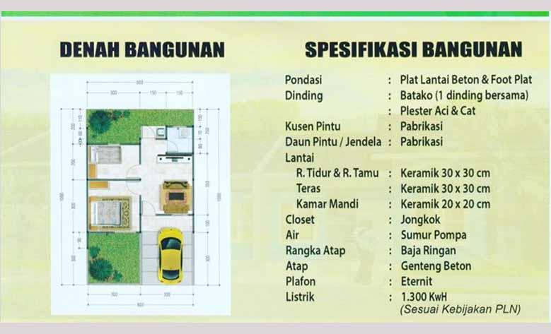Spesifikasi Bangunan Puri Delta Tigaraksa Tangerang