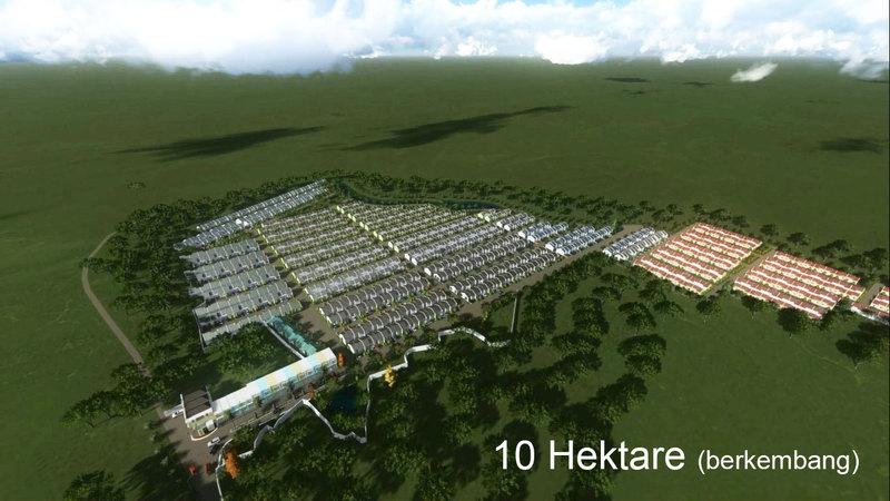 Siteplan - Total lahan 10 hektar.