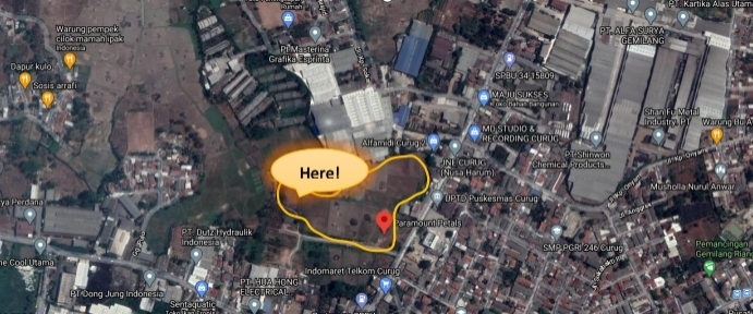 Lokasi proyek hunian Paramount Petals Curug Tangerang