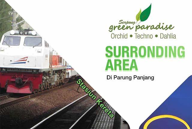 Serpong Green Paradise hanya berjarak 5 menit dari stasiun Parung Panjang