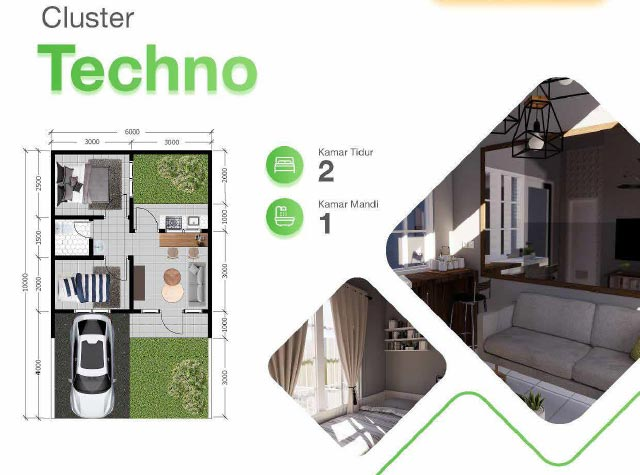 Layout rumah cluster Techno