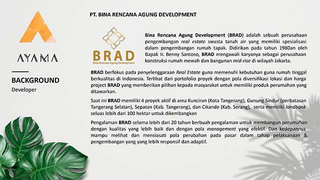 BRAD developer Bina Rencana Agung Development