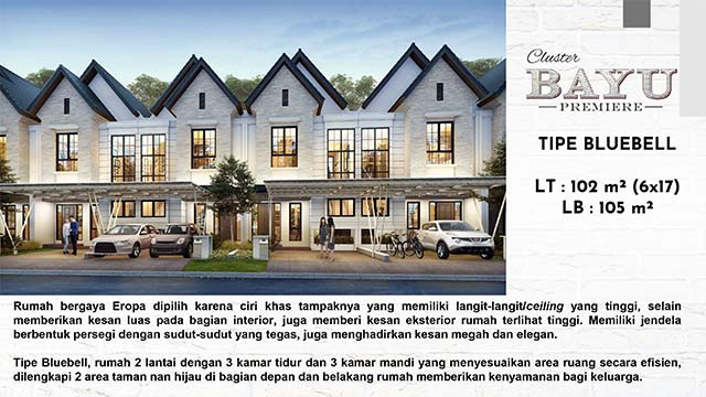 Fasad Type Bluebell Cluster Bayu Premiere