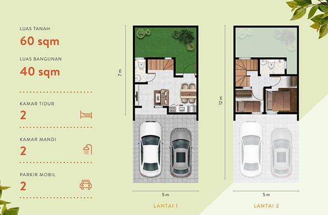 Denah Lantai Dalton House Millenium City