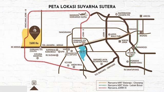 Lokasi kawasan Suvarna Sutera Tangerang