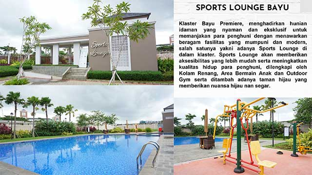 Fasilitas Sport Club Bayu Premiere