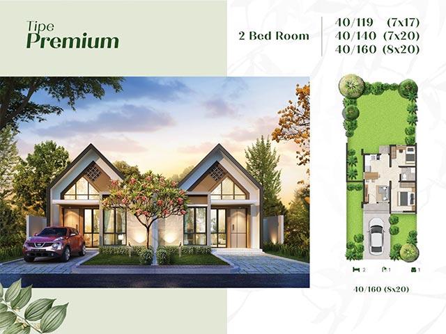 Type Premium 2 Kamar Tidur Kota Podomoro Tenjo