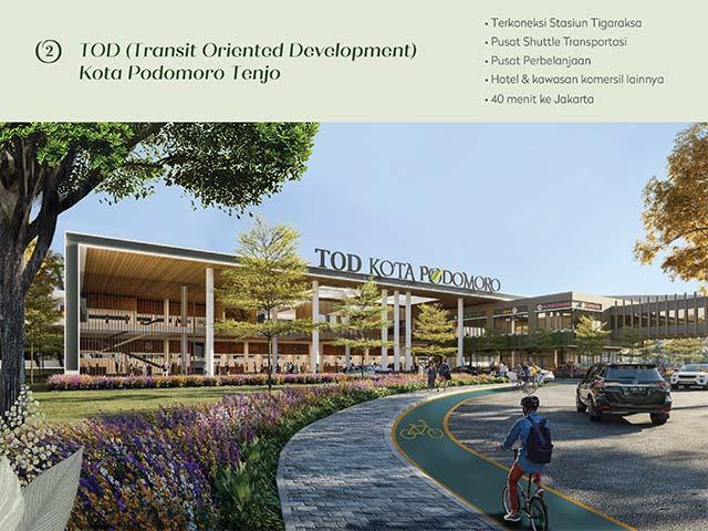 Kota Podomoro dengan Konsep TOD untuk kemudahan akses transportasi.