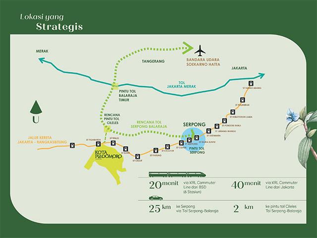 Lokasi Strategis dengan akses KRL dan rencana tol baru