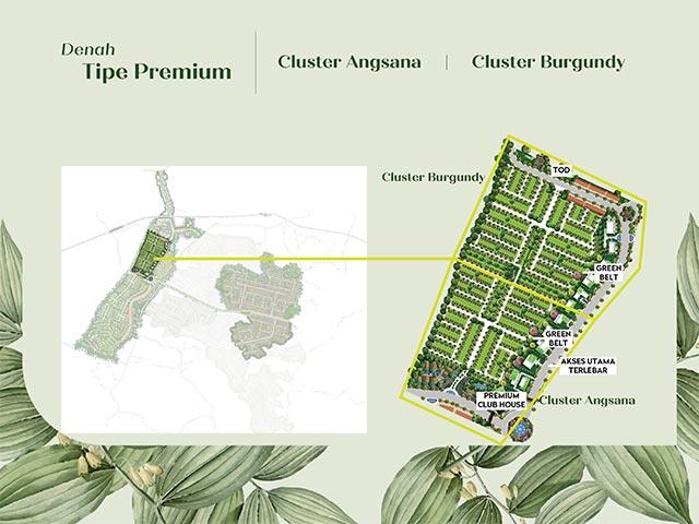 Siteplan cluster type Premium