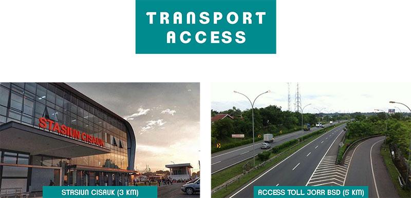 Akses transportasi B Residence BSD