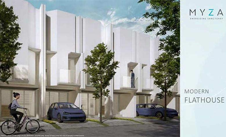 Desain Fasad Rumah murah BSD