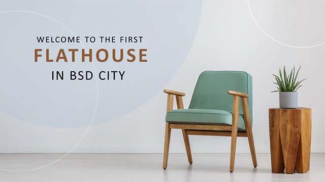 Hunian baru di BSD City dengan konsep flat house