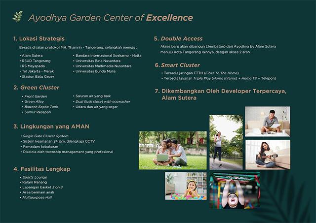 Keunggulan yang ditawarkan Ayodhya Garden 2