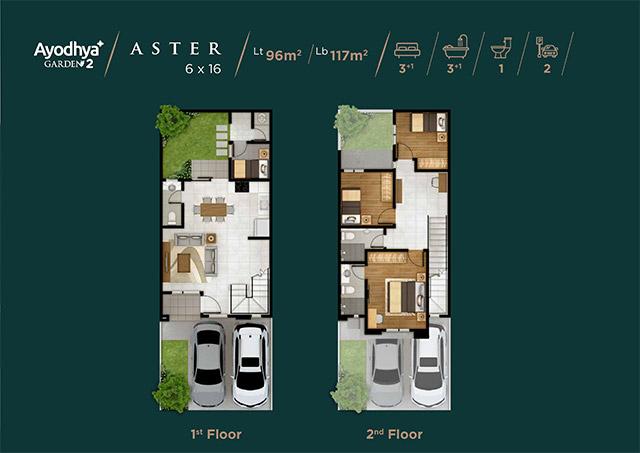 Layout Rumah Type Aster