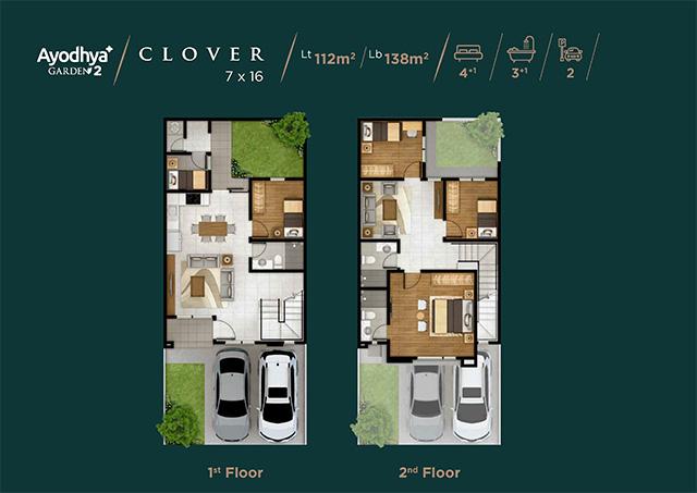 Layout Rumah Type Clover