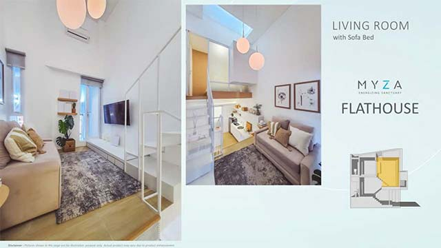 living room myza bsd