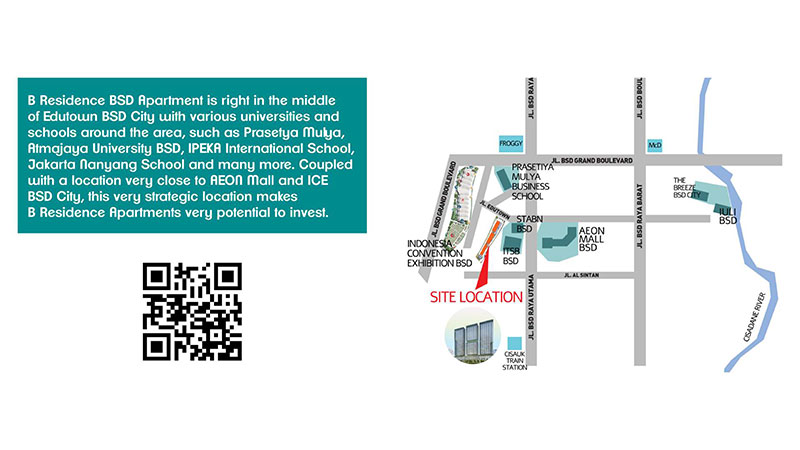 Peta lokasi apartemen B Residence BSD City