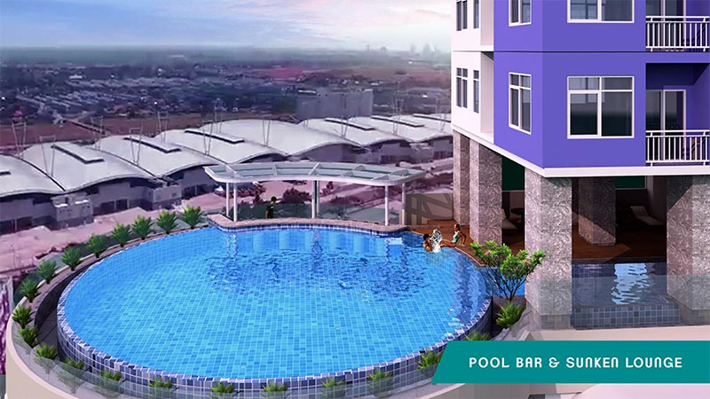 Pool Bar B Residence Apartemen