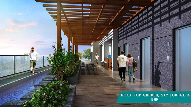 Rooftop garden apartment