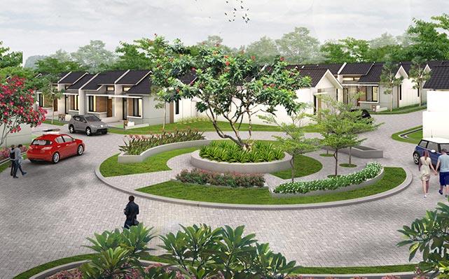 Taman di area perumahan Permata Mutiara Maja perumahan bari di maja