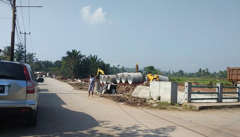 Pembangunan di area proyek perumahan Amara Village Parung Panjang by BSA Land di Parung Panjang
