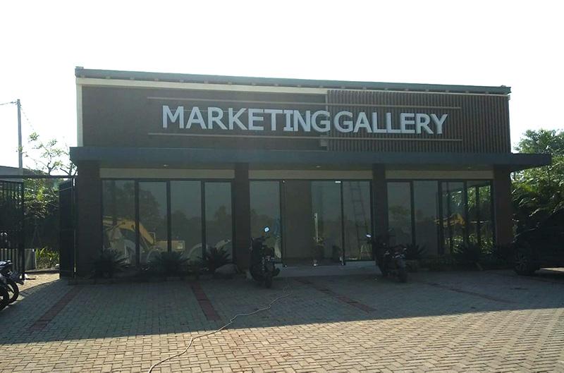 Rumah Contoh dan Marketing Gallery perumahan Amara Village Parung Panjang. perumahan murah dekat BSD.